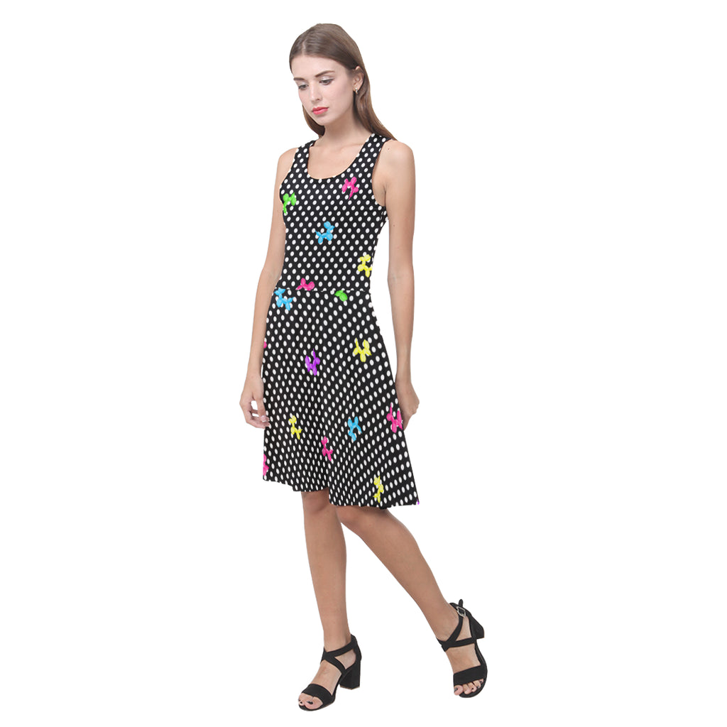 Polka-Dog Sleeveless Sundress