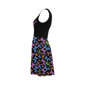 Swirly Pups Sleeveless Sundress
