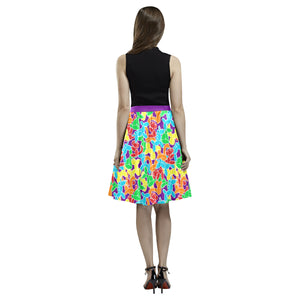 Jam Room Floor Pleated Midi Skirt