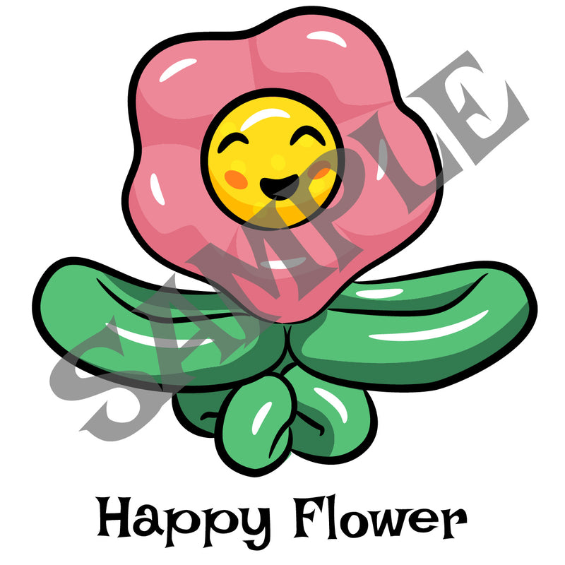 Happy Flower Balloon Clip Art