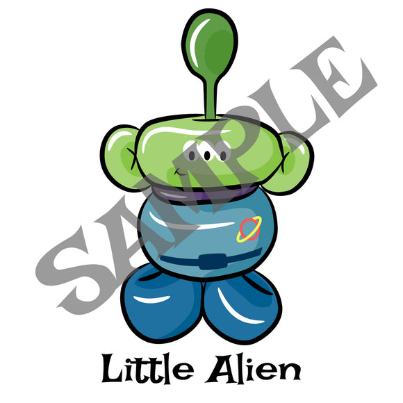 Toy Alien Balloon Animal Clip Art