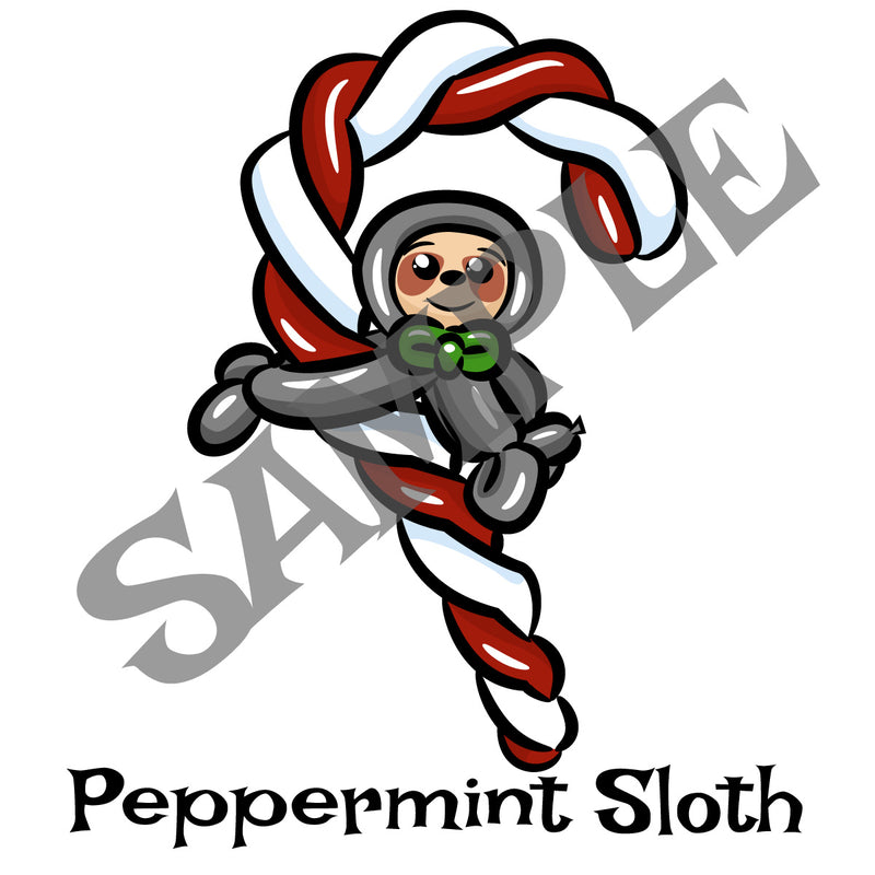 Candy Cane Sloth