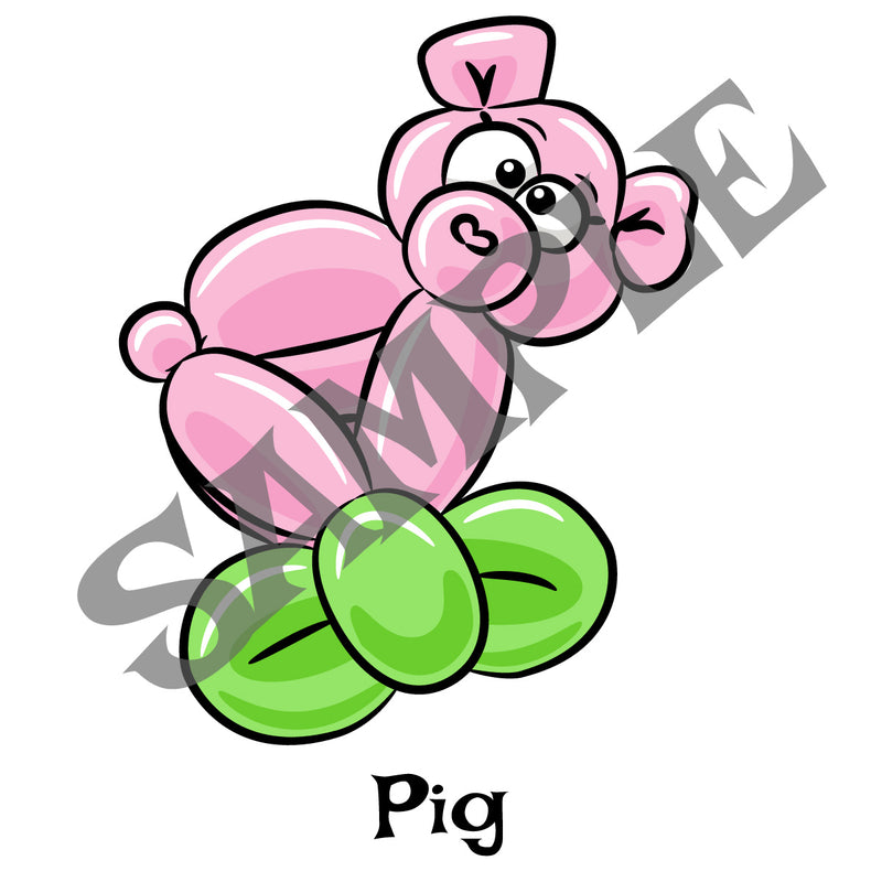 Pig Balloon Animal Clip Art