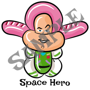 Space Hero Balloon Animal Clip Art