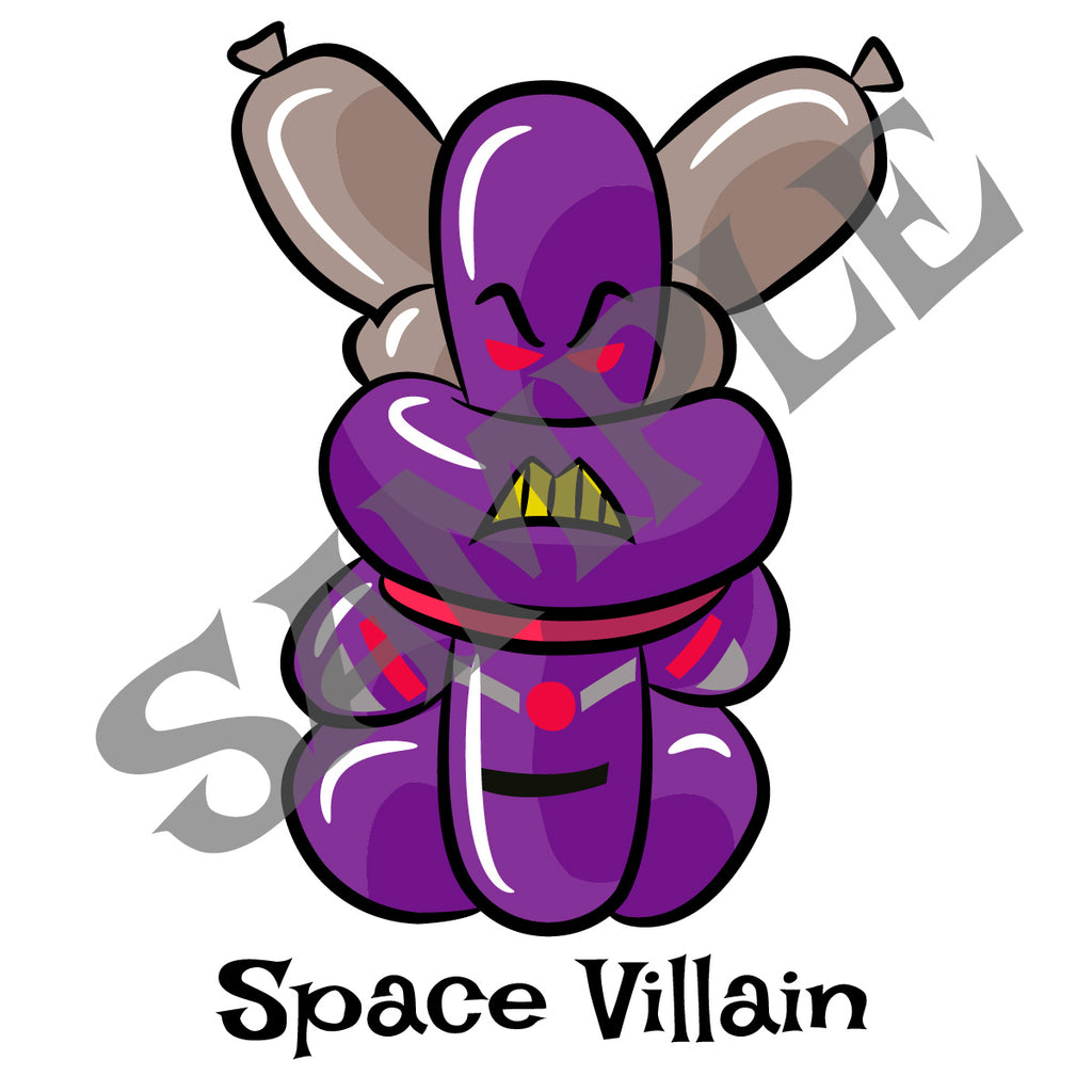 Space Villain Balloon Animal Clip Art