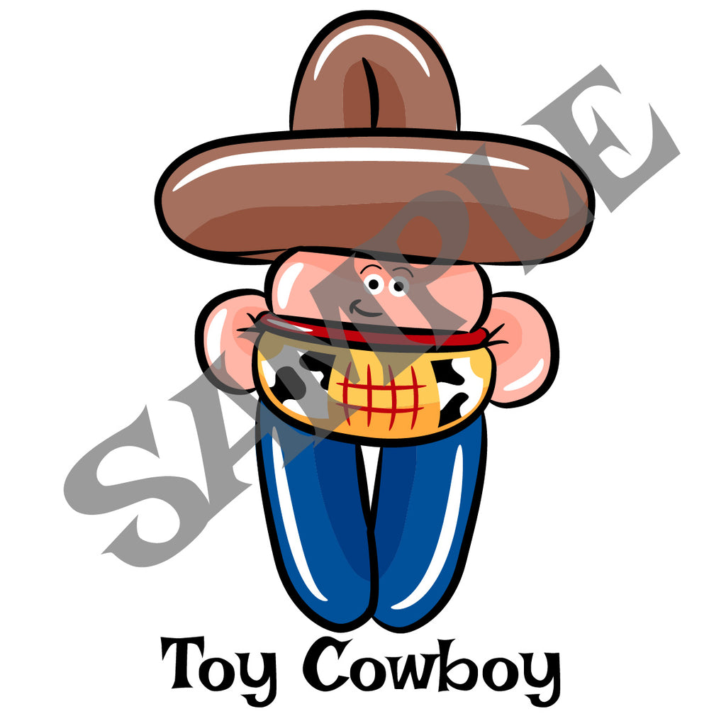Toy Cowboy Balloon Animal Clip Art