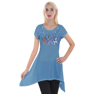 Blue Reindeer Balloon Dogs Tunic