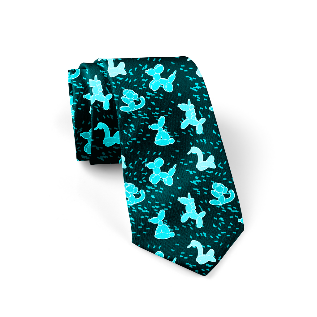 Blue Balloon Animals Necktie