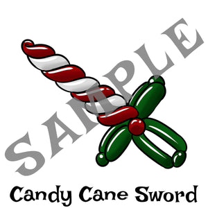 Candy Cane Sword