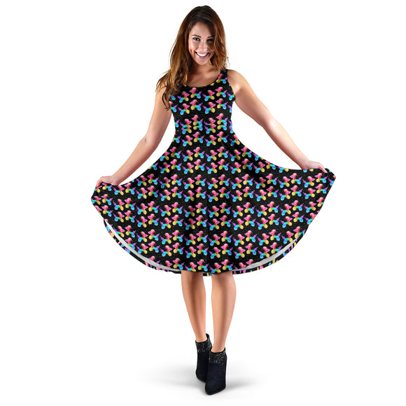 Colorful Balloon Dogs Midi Dress