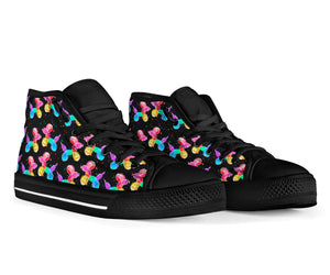 Rainbow Balloon Dogs High Top Shoes