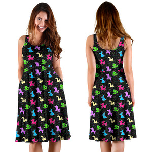 Classic Balloon Animals Midi Dress