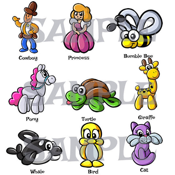picture regarding Balloon Modelling Instructions Printable referred to as Twister Sister Balloon Animal Clothes and Equipment