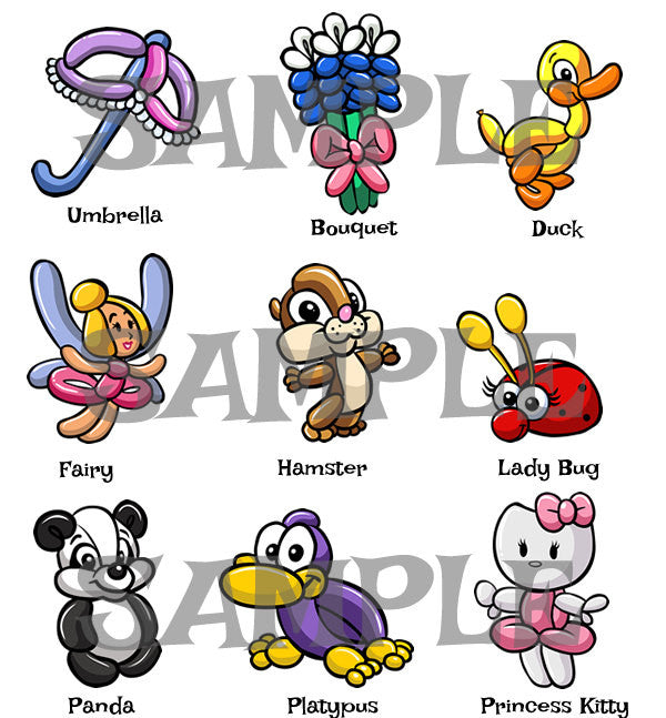 Balloon Animal Menu 3