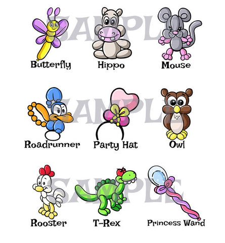 Balloon Animal Menu 5