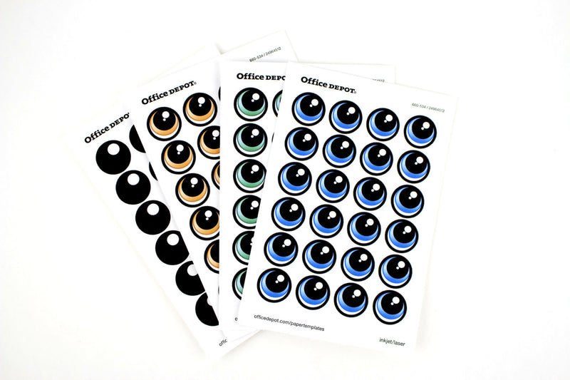 PRINT YOUR OWN Eye Stickers Template pack