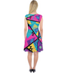 Memphis Balloon Dogs Capsleeve Midi Dress