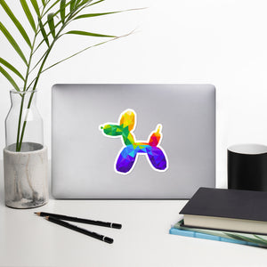 Geometric Balloon Dog Sticker