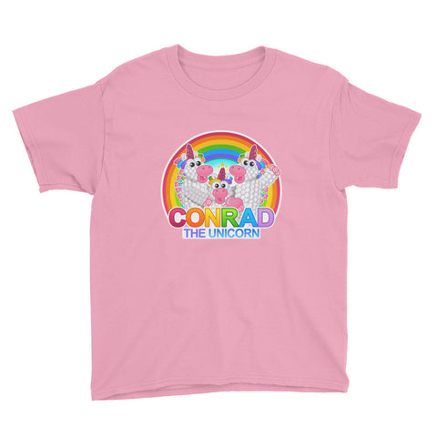 Conrad the Unicorn Family Youth Short Sleeve T-Shirt