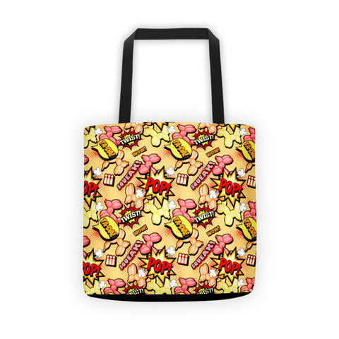 Comic Dogs Balloon Animal Tote bag