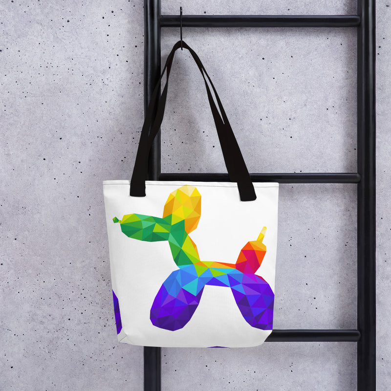Geometric Balloon Dog Tote Bag