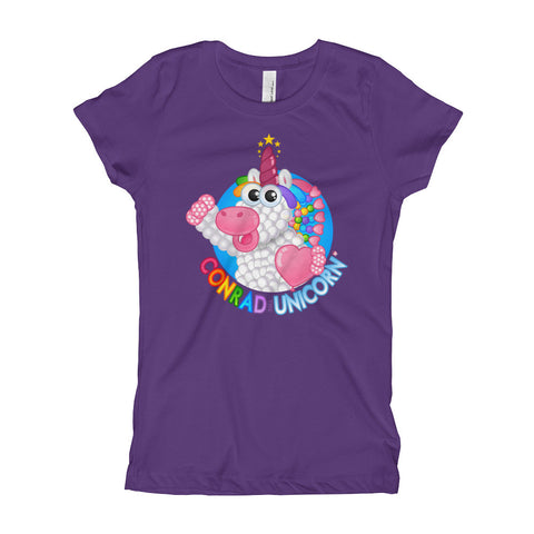 Official Conrad the Unicorn Logo Girl's T-Shirt