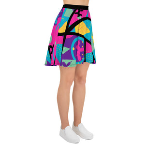 Memphis Balloon Dog Skater Skirt