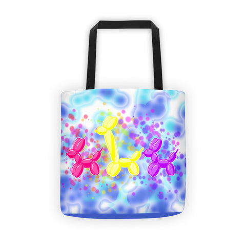 Water Dog Balloon Animal Tote bag