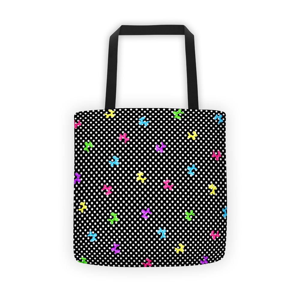 Polka-Dog Balloon Animal Tote bag