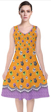 Hallowed Balloons V-Neck Midi Sleeveless Dress