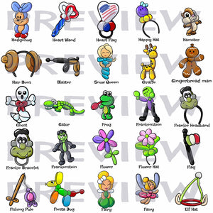 2017 MEGA Balloon Menu Clip Art Bundle!