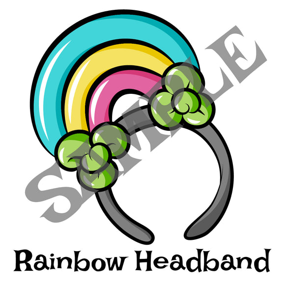 Lucky Rainbow Headband