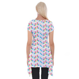Watercolor Balloon Dogs Women's Tunic