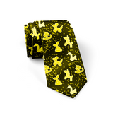 Yellow Balloon Animals Necktie