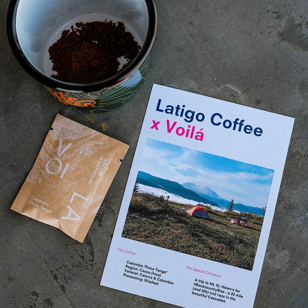 Latigo x Voilá: Instant Coffee Packets