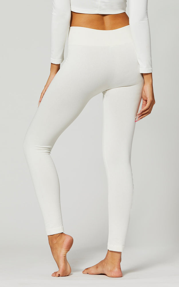 Load image into Gallery viewer, Elsa Off White High Waist Fleece Lined Leggings