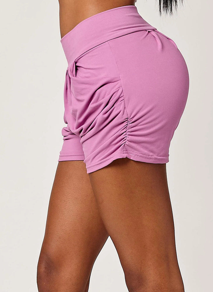 Load image into Gallery viewer, Emma Solid Lavender Ultra Soft High Waist Harem Shorts with Pockets