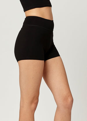 Load image into Gallery viewer, Lola Luxury Stretch Cotton High Waist Slip Shorts - Black
