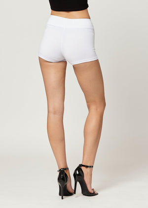 Load image into Gallery viewer, Lola Luxury Stretch Cotton High Waist Slip Shorts - White