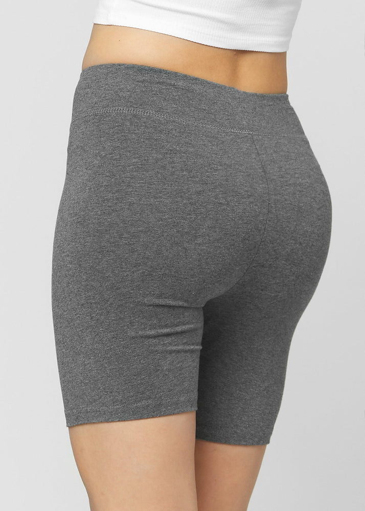 Load image into Gallery viewer, Lola Luxury Stretch Cotton Charcoal Grey High Waist Bike Shorts