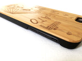 "Natural Bamboo iPhone Case - ""Arigato"""