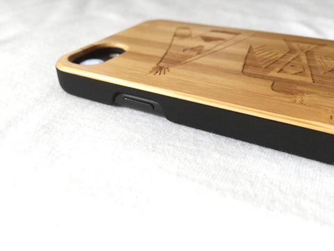 "Natural Bamboo iPhone Case - ""Arizona"""