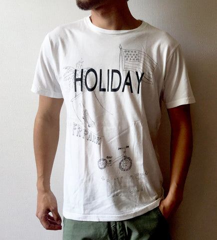 """HOLIDAY"" HAND-PAINTING SOFT COTTON TEE"