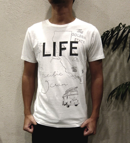 """LIFE"" HAND-PAINTING SOFT COTTON TEE"