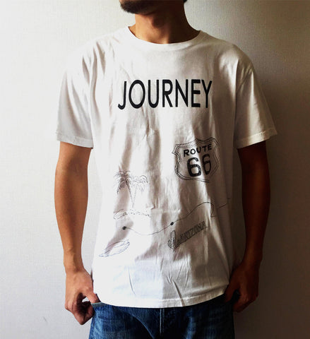 """JOURNEY"" HAND-PAINTING SOFT COTTON TEE"