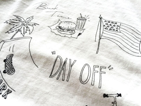 """DAY OFF"" RECYCLE COTTON TEE"