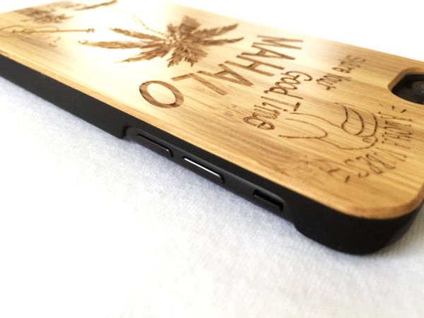 "Natural Bamboo iPhone Case - ""Maharo"""