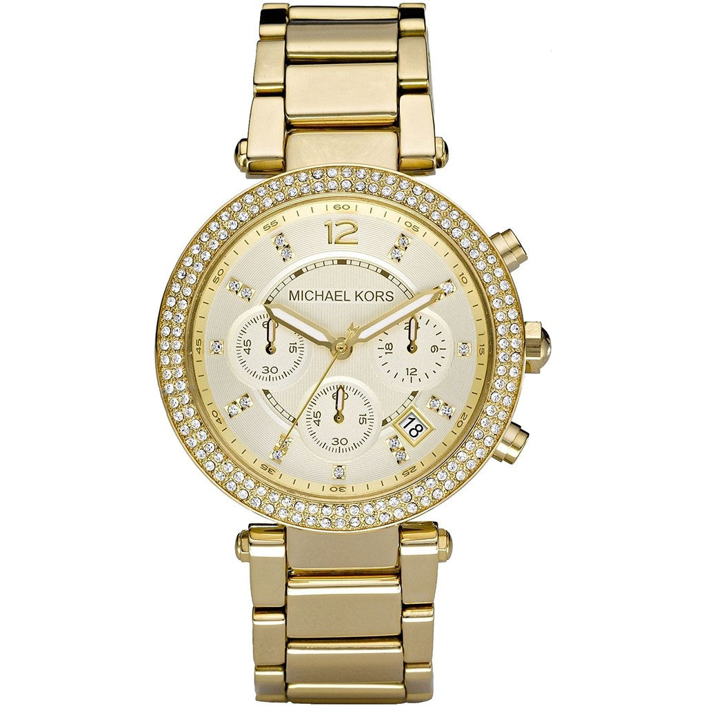 Michael Kors Women's Parker Chronograph Gold-Tone Stainless Steel Watch MK5354