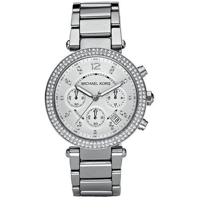 Michael Kors Women's Chronograph Parker Stainless Steel Bracelet Watch MK5353