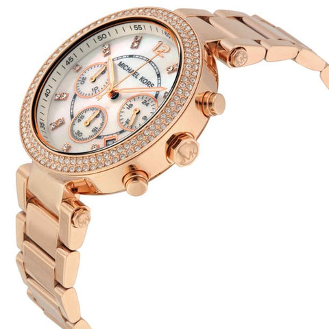 Michael Kors Women's Parker Rose Gold Watch, 39mm, MK5491